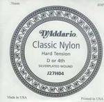 D'addario classic nylon J27H04 losse D snaar