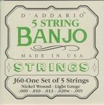 Banjo snaren Dáddario J60 5 string